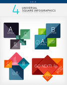 Square infographics, option banners collection — Stock Vector