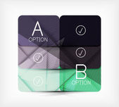 Geometric shaped option banner design template — Vecteur