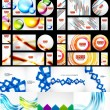Mega collection of various abstract designs — Stock Vector #45273121