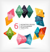 Geometric shaped option banners collection — Stock Vector