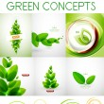 Vector mega set of green concepts — Stock Vector #45697897