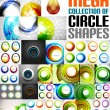 Mega collection of circle shaped compositions — Stock Vector #45849111