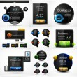 Vector black web banners design collection — Stock Vector
