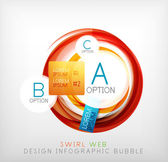 Circle web design bubble   infographic elements — Stock Vector