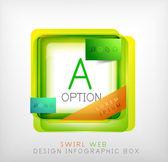 Vector square geometric shaped web design boxes — Vector de stock
