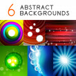 Shiny smooth color abstract vector backgrounds — Stock Vector #46393601