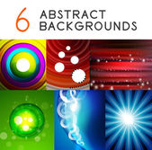 Shiny smooth color abstract vector backgrounds — Stock Vector