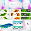 Mega collection of wave abstract compositions — Stock Vector #46573393
