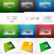 Vector mega set of login web design elements — Stock Vector