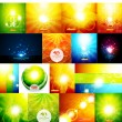 Mega collection of warm shiny backgrounds — Stock Vector #46653645