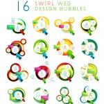 Set of swirl web design infographic bubbles — Stock Vector #47180753