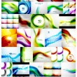 Mega collection of wave backgrounds — Stock Vector #47180725