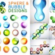 Vector set of sphere and bubble designs — Stock Vector #47180739