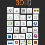 Mega collection of vector UI buttons set — Stock Vector #47180743