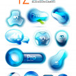 Vector blue icons - web boxes design collection — Stock Vector #47180771