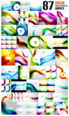 Mega collection of wave backgrounds — Stock Vector