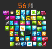 Mega collection of light shiny layouts — Stock Vector