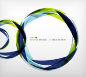 Blue ring - business abstract bubble — ストックベクタ