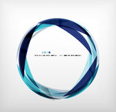 Blue ring - business abstract bubble — Stock Vector