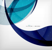 Blue corporate abstract shapes modern brochure design — Stock Vector