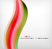 Diseño elegante de la onda suave colorido negocio — Vector de stock