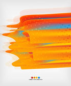 Orange straight lines geometric background — Stock Vector
