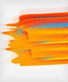 Oranje rechte lijnen geometrische achtergrond — Stockvector