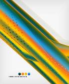 オレンジ色の直線の幾何学的な背景 — ストックベクタ