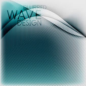 Textured blurred color wave background — Stock Vector