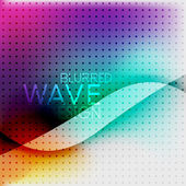 Colorful blurred wave business background — Stock Vector