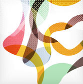 Colorful swirl wave lines — Wektor stockowy