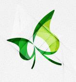 Green eco unusual background concept — Stock Vector