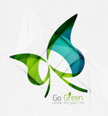 Green eco unusual background concept — Vecteur