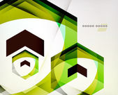 Arrow Geometric Shape Abstract Business Background — Stock vektor
