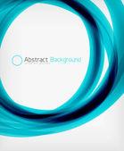 Elegant swirl shaped modern business template — Stock Vector