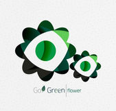 Green eco unusual background concept - flowers — Stock Vector