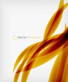 Bunte abstrakte fließenden eleganten linien — Stockvektor
