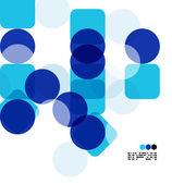 Plantilla azul moderno diseño geométrico — Vector de stock