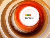 Geometrické barevné kruhy pozadí — Stock vektor