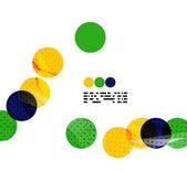 Sfondo geometrico nel concetto di bandiera Brasile — Vettoriale Stock