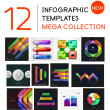 Infographic templates mega collection — Stock Vector