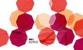 Bright red geometric modern design template — Stock Vector