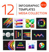 Infographic templates mega-collectie — Stockvector