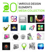 Multipurpose design elements mega collection — Stock Vector