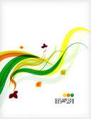 Colorful vector floral design templates — Stock Vector