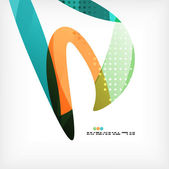 Colorful abstract flowing shapes — 图库矢量图片