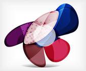 Abstraktní možnost infographic - skleněné kulaté tvary — Stock vektor