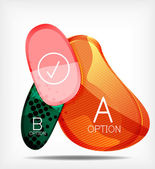 Option infographic presentation layout — Stock Vector