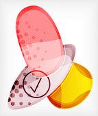 Abstraktní barevný lesklý prázdné kulaté tvary — Stock vektor