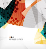 Semicircle geometric vector abstract background — Vector de stock